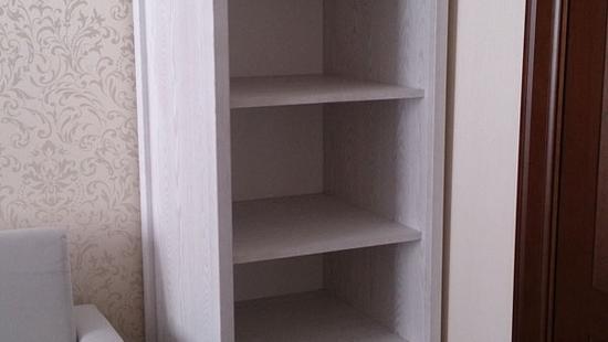 Детская Снежана шкаф книжный дуб (молочный)