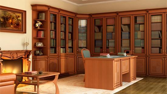 Кабинеты и библиотеки из массива