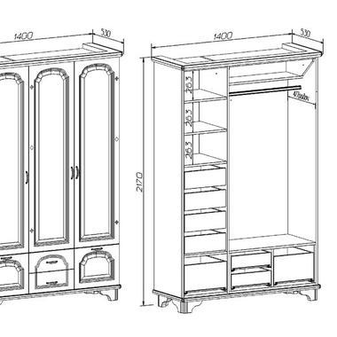 Спальня Лира шкаф