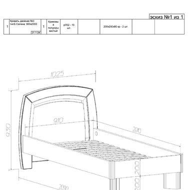 Спальня Селена кровать
